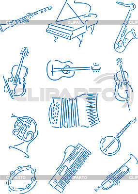 Music instruments | Stock Vector Graphics |ID 3035448