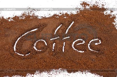 Znak kawy bielonego   Foto stockowe wysokiej rozdzielczości  ID 3036582