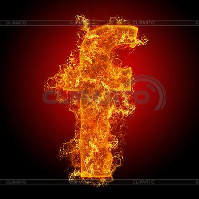 Feuer-Buchstabe F | Foto mit hoher Auflösung |ID 3036698