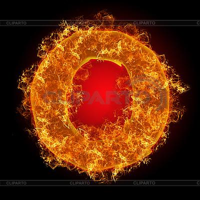 Feuer-Buchstabe O   Foto mit hoher Auflösung  ID 3036714