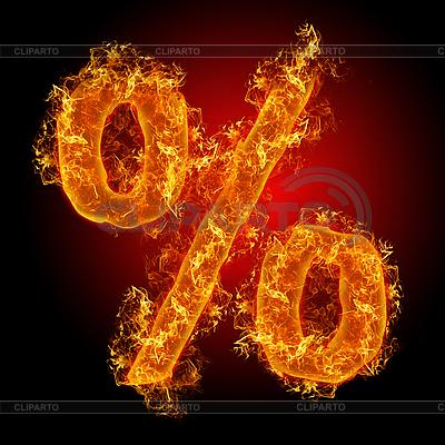 Pożar sign Percent | Foto stockowe wysokiej rozdzielczości |ID 3036716