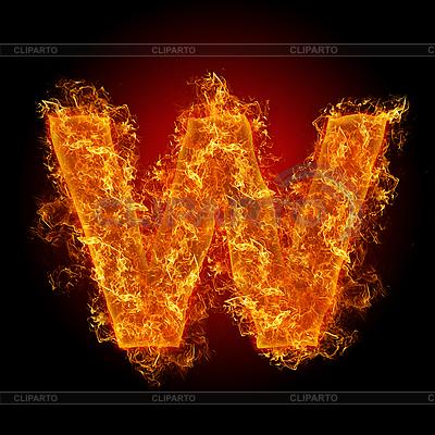 Feuer-Buchstabe W | Foto mit hoher Auflösung |ID 3036727