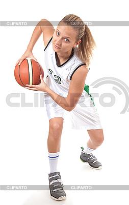 Женщина-баскетболист | Фото большого размера |ID 3019943