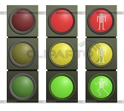 Set of traffic lights | Stock Vector Graphics |ID 3019960