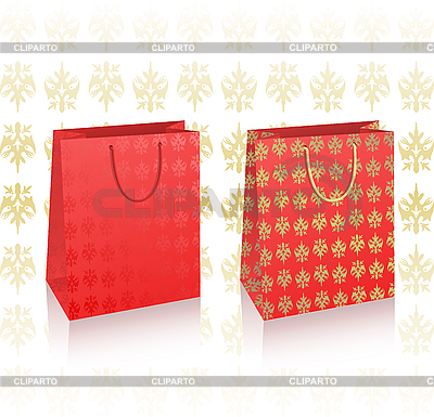 Red royal shopping bags | Stock Vector Graphics |ID 3019976