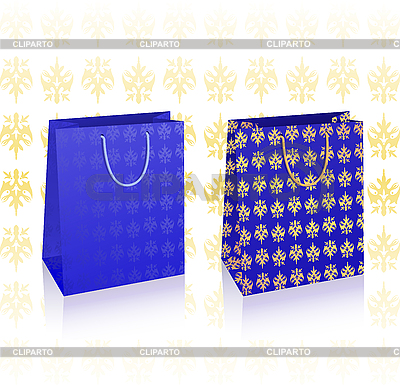 Royal blue shopping bags | Stock Vector Graphics |ID 3019978
