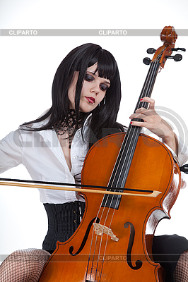 Romantic girl playing cello  | High resolution stock photo |ID 3020518