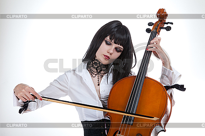 Attractive girl playing cello  | High resolution stock photo |ID 3020519
