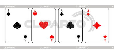 Aces of playing cards  | Stock Vector Graphics |ID 3020536