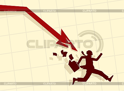 Businessman and red arrow graphic | Stock Vector Graphics |ID 3020561