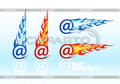 E-mail mit Flammen | Stock Vektorgrafik |ID 3020571