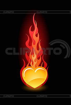 Serce w ogniu | Klipart wektorowy |ID 3020589