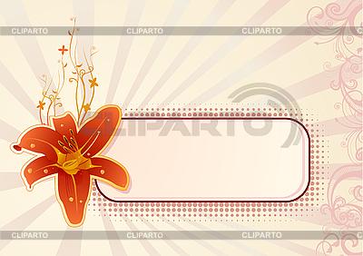 Poziomy panel z orchidei | Klipart wektorowy |ID 3020607