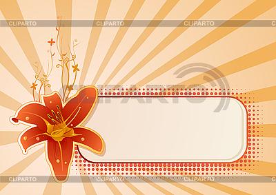 Panel z kwiatem | Klipart wektorowy |ID 3020613