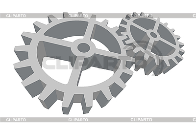 Two gears connected | Stock Vector Graphics |ID 3021469