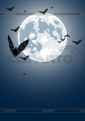 Halloween night with moon  | Stock Vector Graphics |ID 3021509