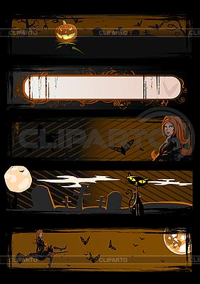Set of Halloween banners   Stock Vector Graphics  ID 3021533