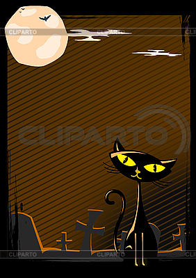 Halloween cat | Stock Vector Graphics |ID 3021535