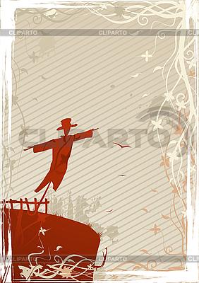 Mystic grunge scarecrow   Stock Vector Graphics  ID 3021551
