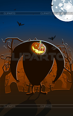Scary glowing Jack-O`Lantern man | Stock Vector Graphics |ID 3021569