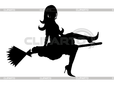 Silhouette of witch | Stock Vector Graphics |ID 3021581