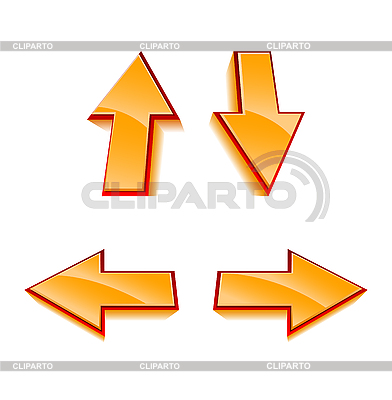 Set of 4 glossy arrows | Stock Vector Graphics |ID 3021754