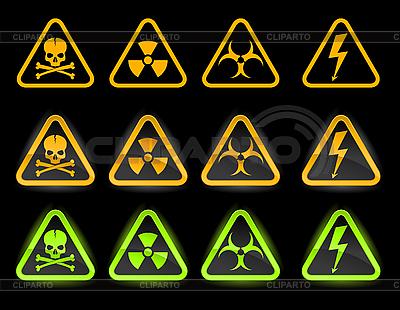 Danger icons   Stock Vector Graphics  ID 3021776
