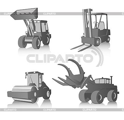 Przemysłowe maszyny w skali szarości | Klipart wektorowy |ID 3021832