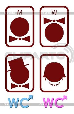Set von Symbole für WC   Stock Vektorgrafik  ID 3021836