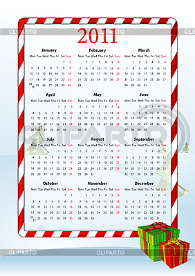 Vector illustration of European calendar 2011 | Klipart wektorowy |ID 3022283