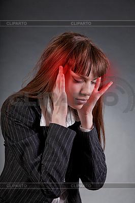 业务女人头痛 | 高分辨率照片 |ID 3022383