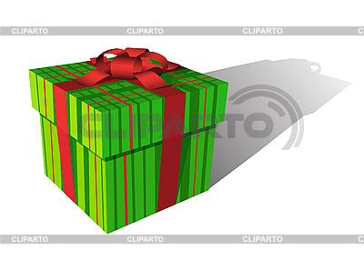 Зеленая подарочная коробка | Векторный клипарт |ID 3022485