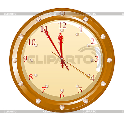Holiday clock | Stock Vector Graphics |ID 3022499