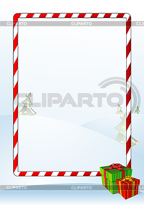 Christmas greeting card with frame | Stock Vector Graphics |ID 3022537