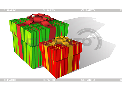 Two holiday boxes | Stock Vector Graphics |ID 3022563