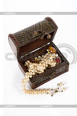 Treasure chest with jewelry    High resolution stock photo  ID 3022585