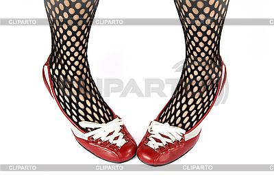 Kobieta nogi w czerwone buty | Foto stockowe wysokiej rozdzielczości |ID 3022591