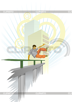 Urban parkour | Stock Vector Graphics |ID 3022640