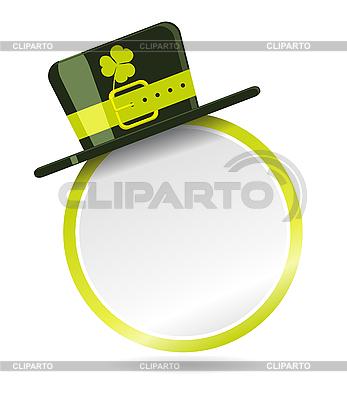Etikett mit Hut für St. Patrick Tag | Stock Vektorgrafik |ID 3022674