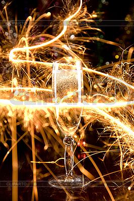 Nowy Rok karty szampana szk? | Foto stockowe wysokiej rozdzielczości |ID 3023229