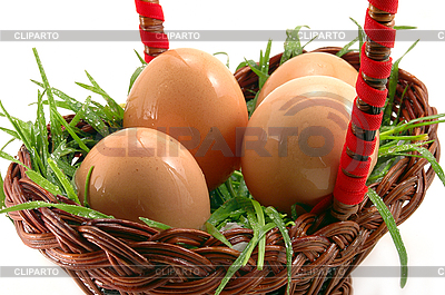 Four Easter eggs in grass  | High resolution stock photo |ID 3023274