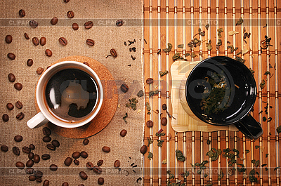 Tea and coffee cups    High resolution stock photo  ID 3023306