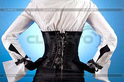 Widok z tyłu dziewczyna w modne ubrania | Foto stockowe wysokiej rozdzielczości |ID 3023322