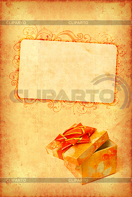 Винтажная открытка с подарочной коробкой | Фото большого размера |ID 3023466