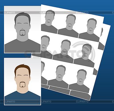 Ikony zdjęć z twarzami | Klipart wektorowy |ID 3023478