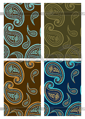 Set of seamless paisley backgrounds  | Stock Vector Graphics |ID 3023560