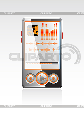 Stylish player with orange interface | Stock Vector Graphics |ID 3023562