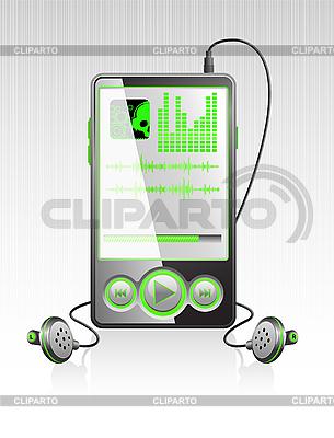 Stilvoller Player mit moderner Schnittstelle | Stock Vektorgrafik |ID 3023566