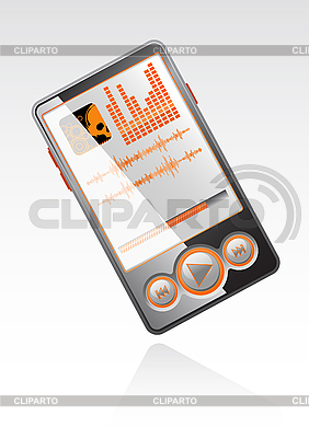 Stylish player with orange interface | Stock Vector Graphics |ID 3023568