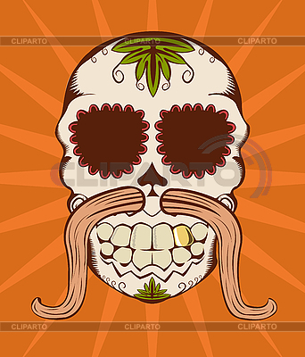 Orange sugar skull | Stock Vector Graphics |ID 3023572